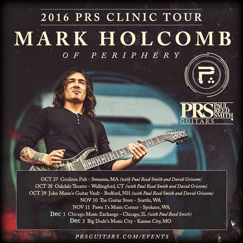 mark holcomb prs clinic at big dudes music city in kc dec. 2nd