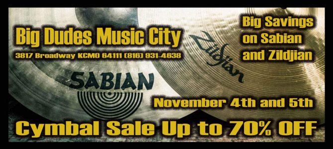 Cymbal Spectacular at Big Dudes This Friday and Saturday Nov. 4th & 5th