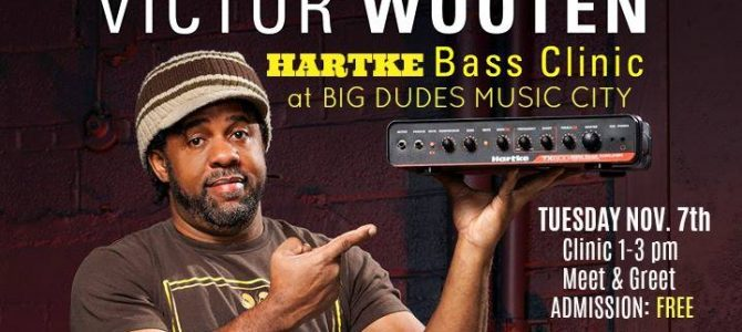 "Hartke Bass Clinic with ""Victor Wooten"".  November 7th 2017 1:00 pm"
