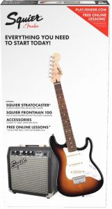 "Rock n Roll Holidays ""Mini"" Electric Guitar Packs are here! Squier 3/4 Mini Electric Guitar Strat Pack"