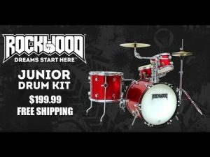 ROCKWOOD Junior Drum Set for only $199.99 & FREE Shipping!
