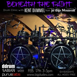 Kent Diimmel Drum Clinic at Big Dudes music City Feb. 17th 2018 3-5pm