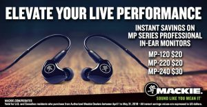 Mackie MP Series In ear Monitor Rebate 2018