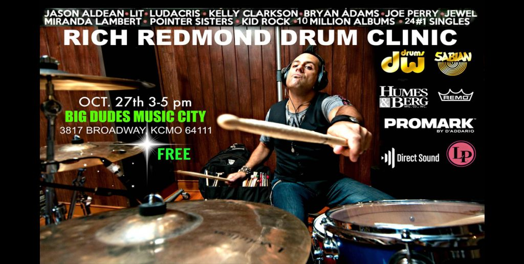 Rich Redmond Drum Clinic -Oct, 27th